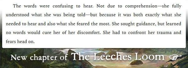 The Leeches Loom, Chapter 13 – Neera