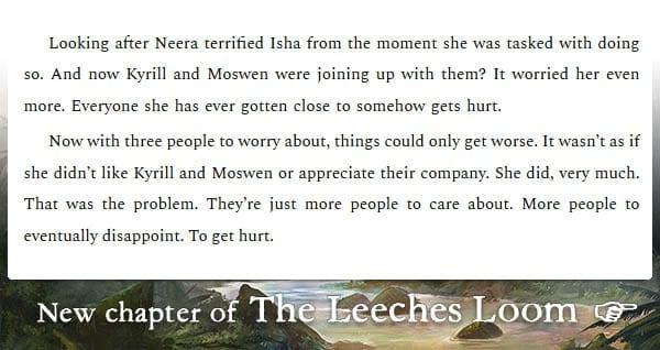 The Leeches Loom, Chapter 17 – Isha
