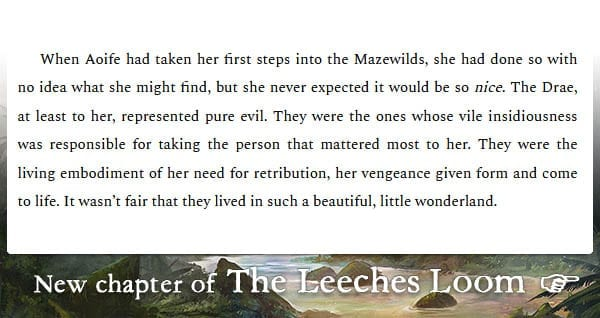The Leeches Loom, Chapter 22 – Aoife
