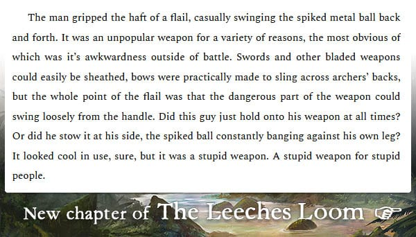 The Leeches Loom, Chapter 40 – Moswen