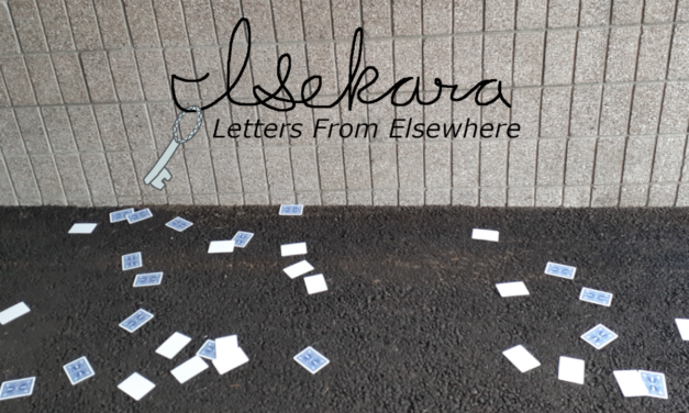 I got letters from my friend in the other world.